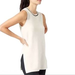 ATHLETA On The Town Sweater Vest Tunic Top Shirt